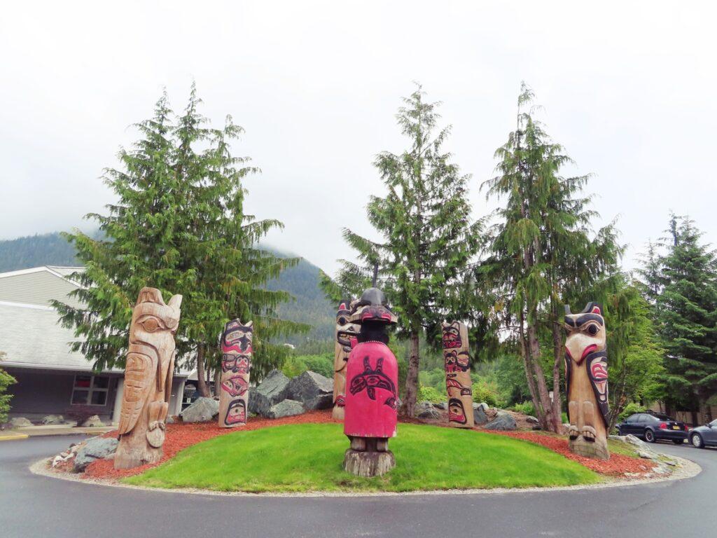 Totem poles in Ketchikan, Alaska.