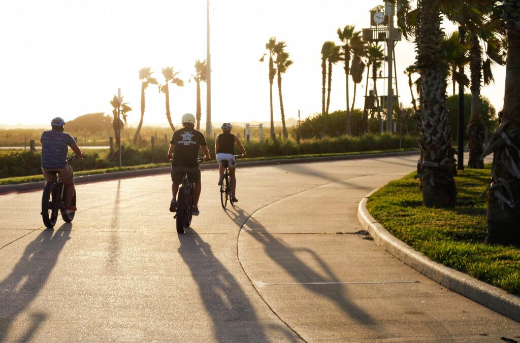 Tourists on a Zipp E Bike tour.