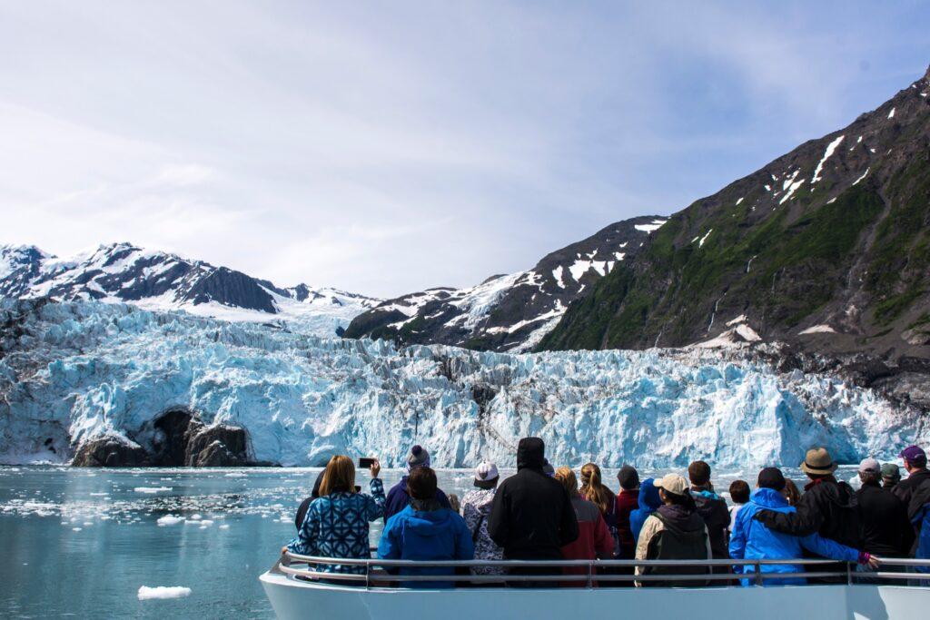 Tourists on the Prince William Sound 26 Glacier Cruise.