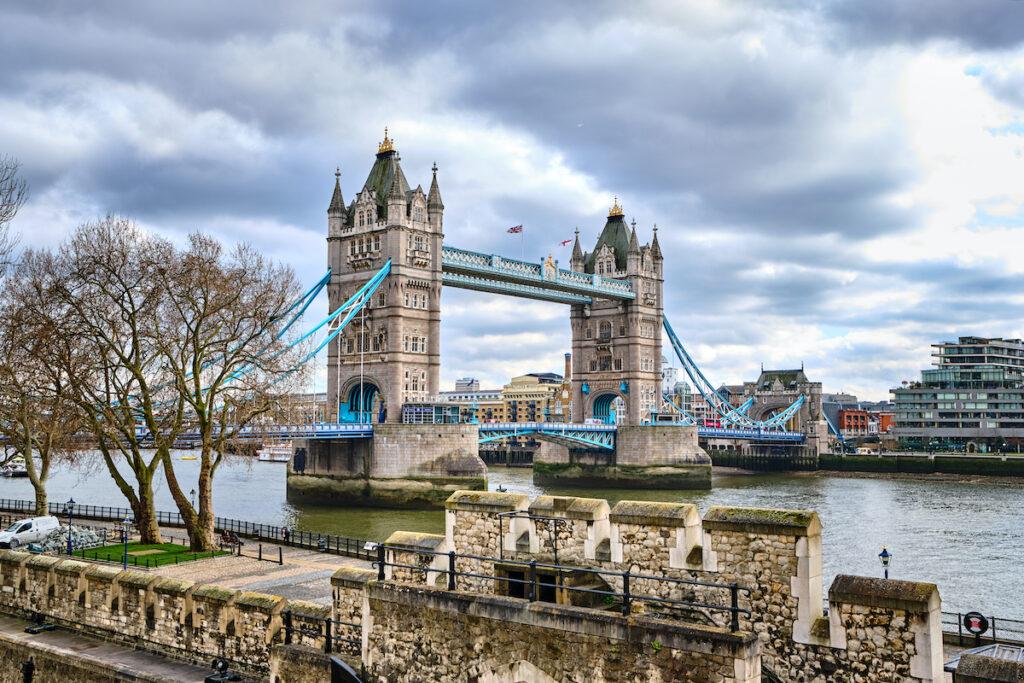 Tower Bridge in London, United Kingdom.