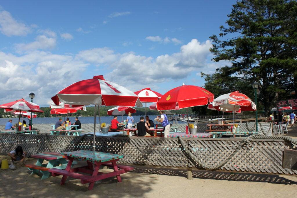 Town Docks Restaurant off the lake.