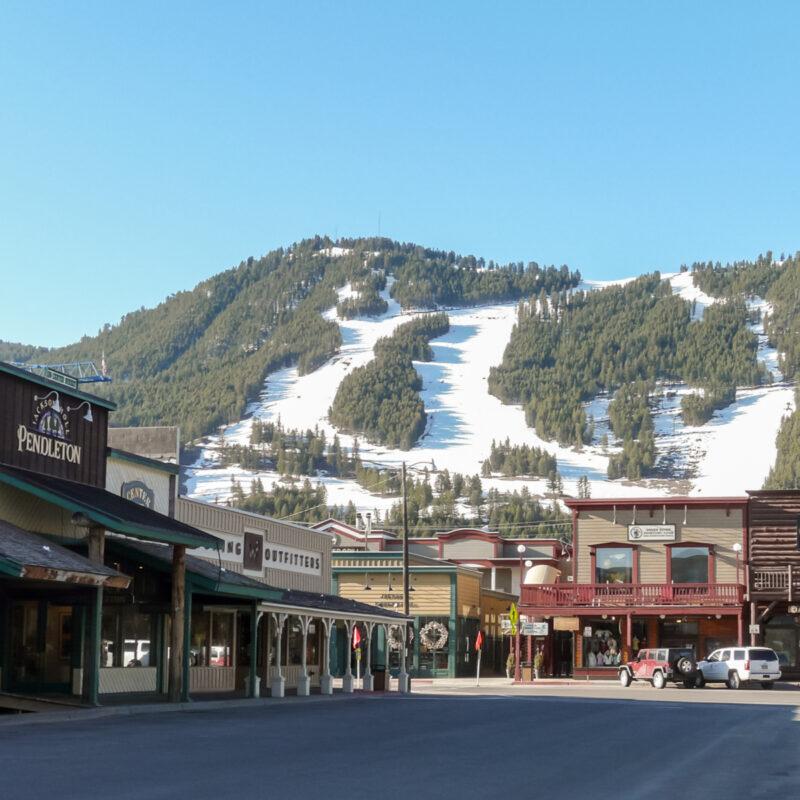 Town of Snow King Resort in Jackson, Wyoming.