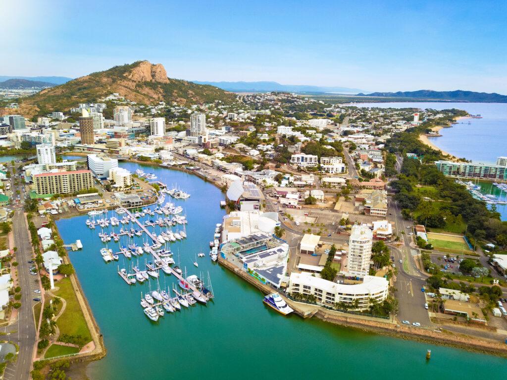 Townsville harbor in Australia.
