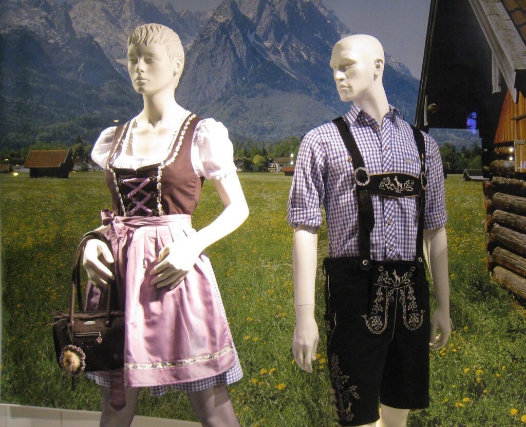 Traditional Bavarian outfits.
