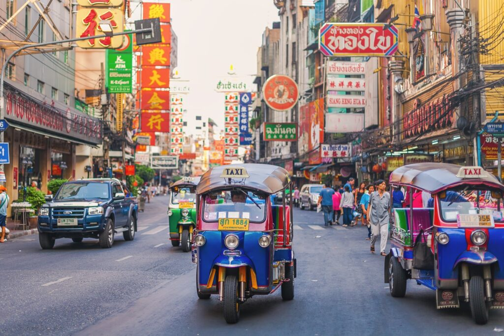 Traffic in Bangkok, Thailand.