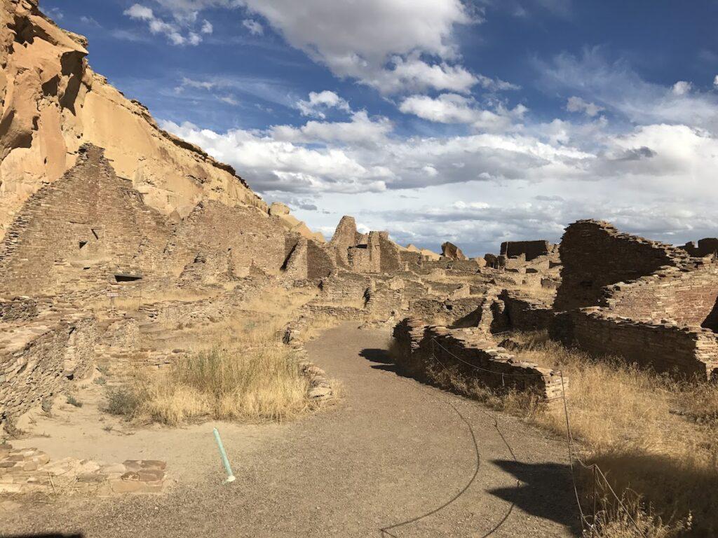 Trail through Pueblo Bonito, Chaco Culture National Historical Park.