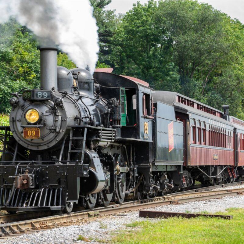 Train at Strasburg Railroad in Strasburg, Pennsylvania