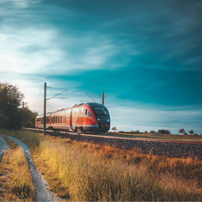 Train near Schwabisch Hall, Germany.