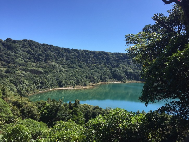 Trees around a volcanic lake, Costa Rica