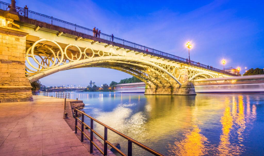Triana Bridge over Guadalquivir River in Seville