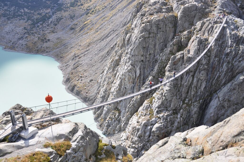Trift Bridge in Gadmen, Switzerland.