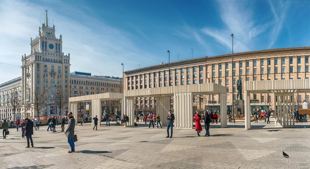 Triumfalnaya Square in Moscow