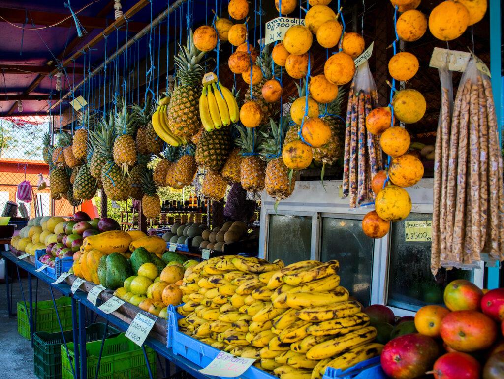 Tropical fruit in Costa Rica.