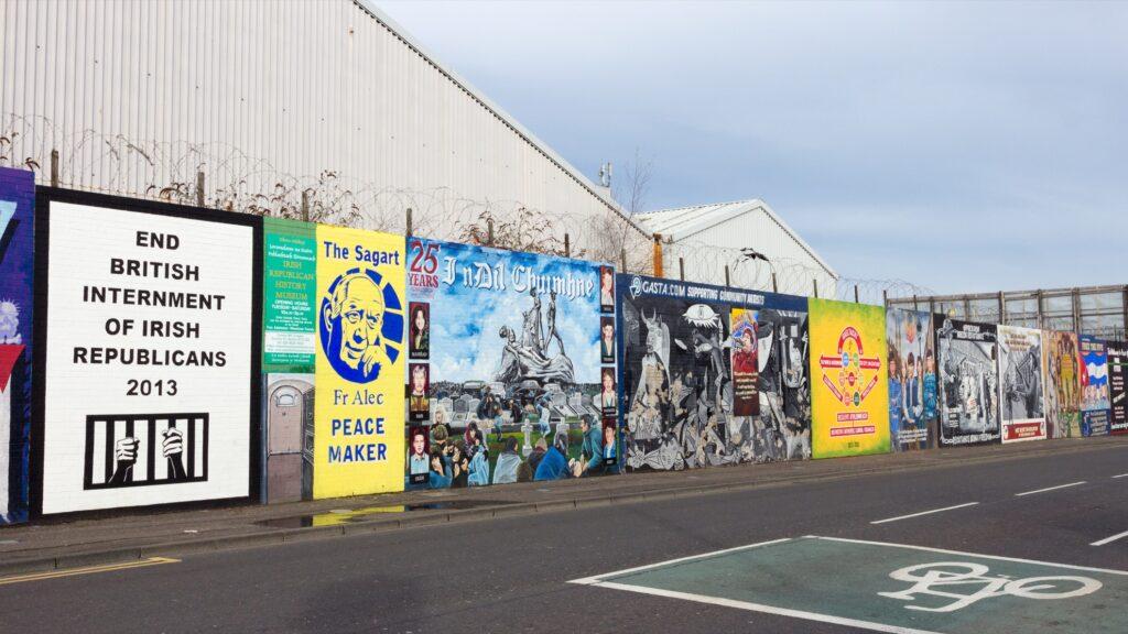 Troubles murals in Belfast.