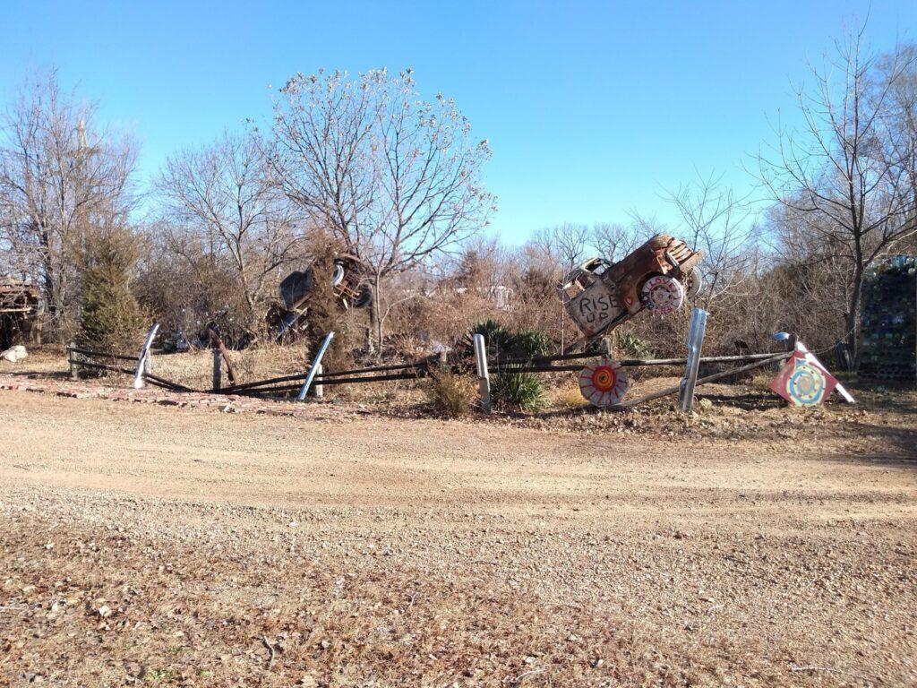Truckhenge Farm in Topeka, Kansas.