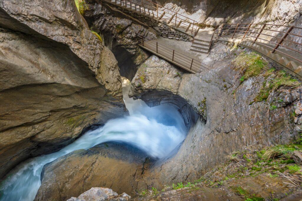 Trummelbach Falls in Lauterbrunnen.