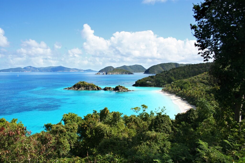 Trunk Bay in the U.S. Virgin Islands.