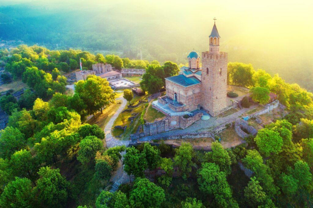 Tsarevets Fortress in Bulgaria.