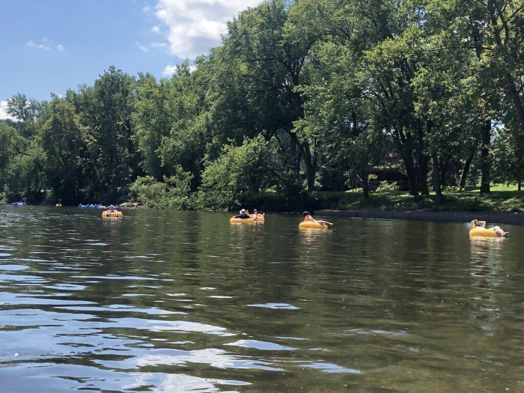 Tubing, Delaware River near New Hope.