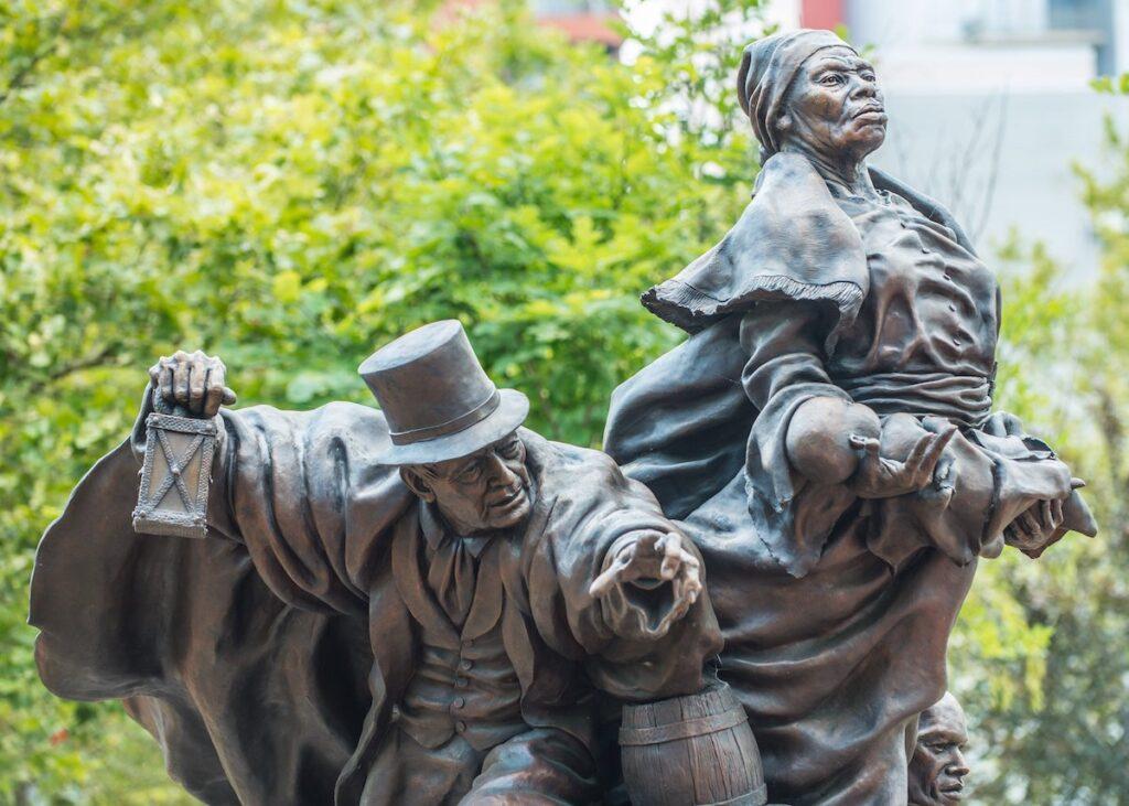 Tubman Underground Railroad Statue.