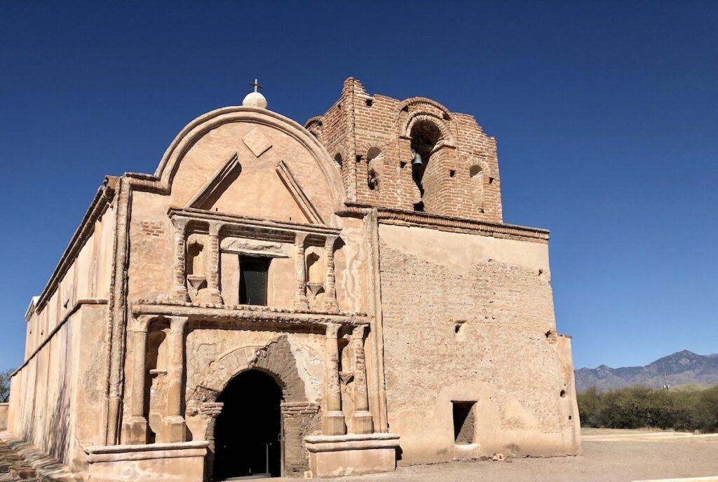 Tumacacori Mission in Santa Cruz County, Arizona.