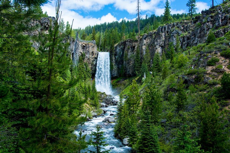 Tumalo Falls in Bend, Oregon.