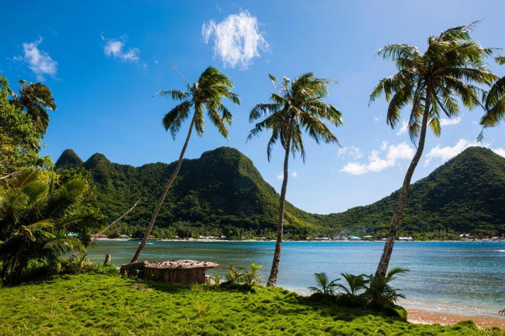 Tutuila island in the National Park of American Samoa.