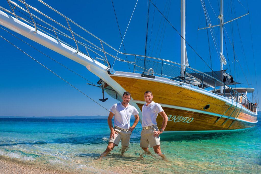 Two Croatian crew members.