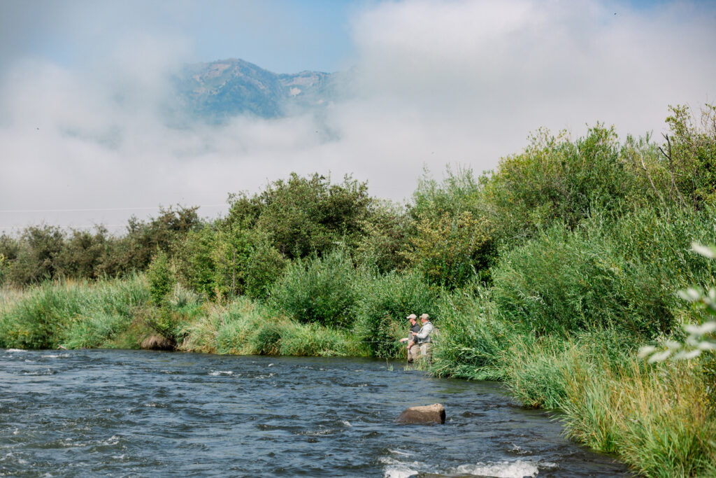 Two fly fishermen in Park City.