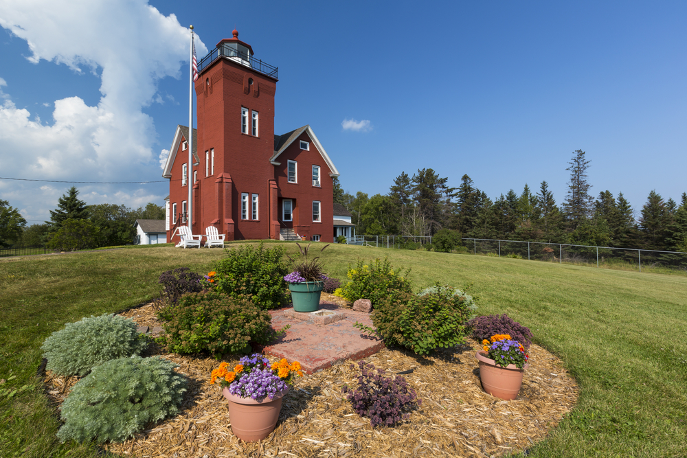 Two Harbors Lighthouse Museum in Two Harbors, Minnesota.