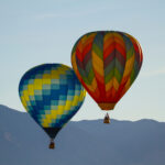 Two hot air balloons in Nevada.