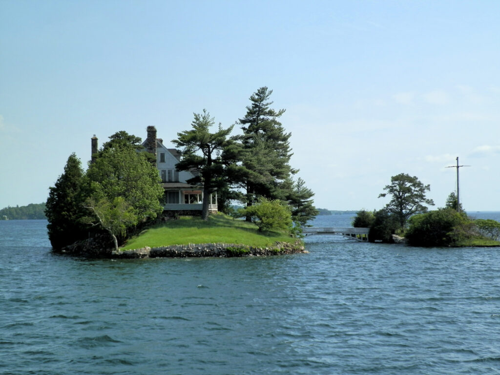 Two islands in the Thousand Islands.