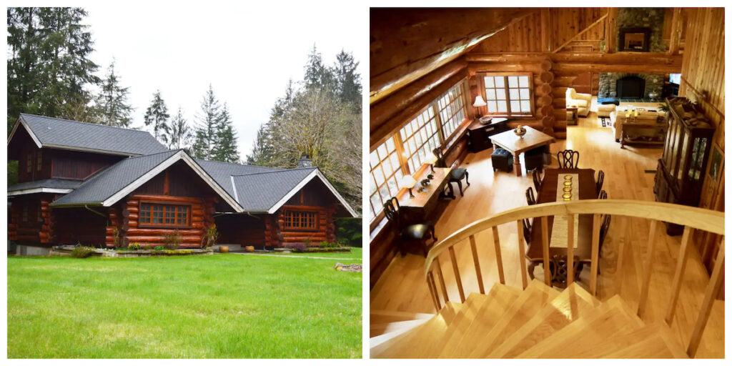 Two Log Cabins, a rental property in Washington.