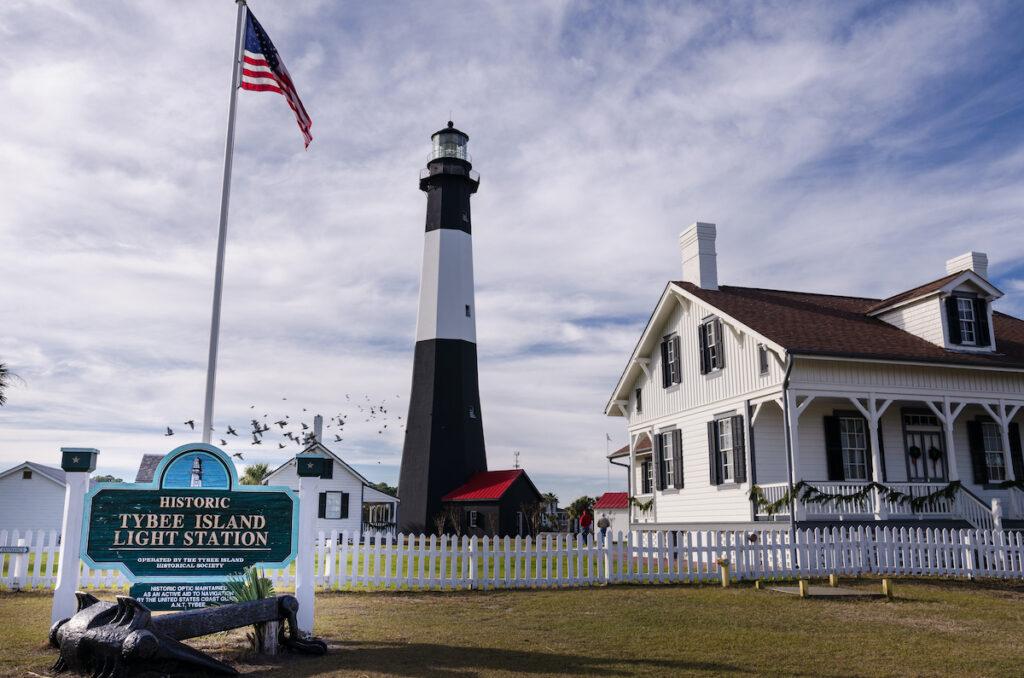 Tybee Island Lighthouse in Georgia.