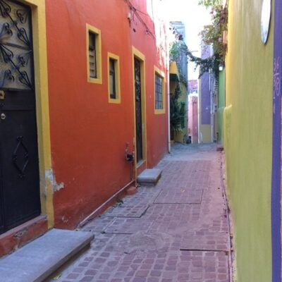 Typical callejon, Guanajuato, Mexico.