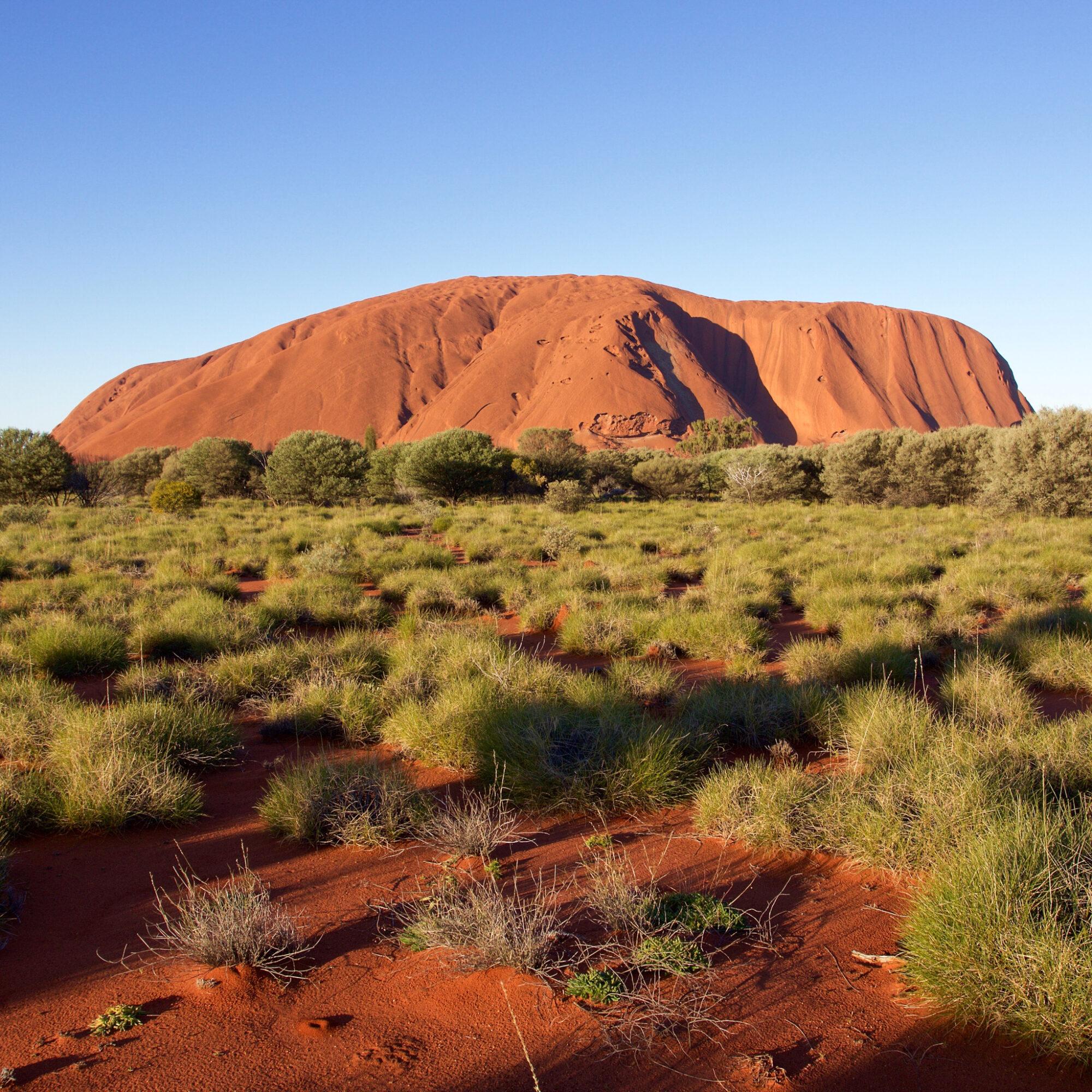 Uluru (previously Ayers Rock) in Australia.