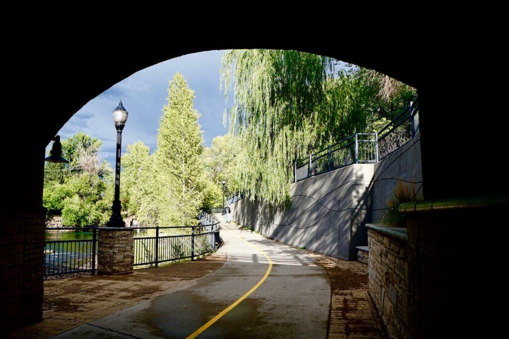 Under a bridge in Durango, Colorado.