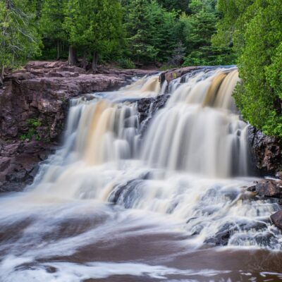 Upper Gooseberry Falls in Minnesota.