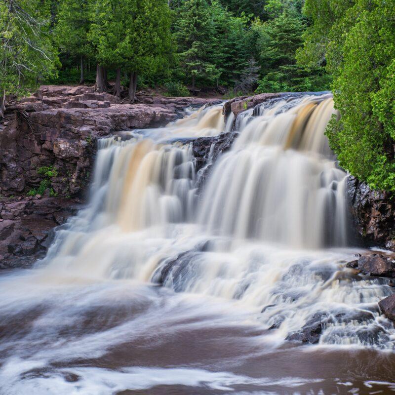 Upper Gooseberry Falls in Minnesota.