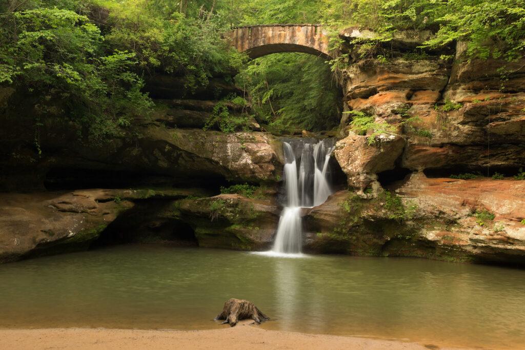 Upper Old Man's Cave Falls in Ohio.