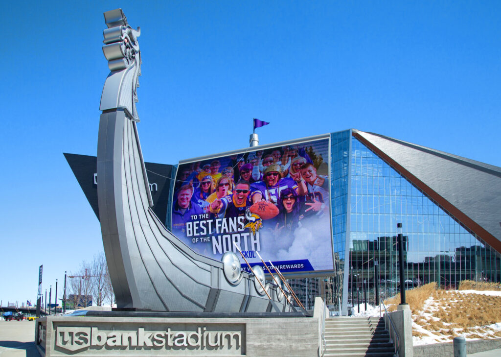 US Bank Stadium in Minneapolis.