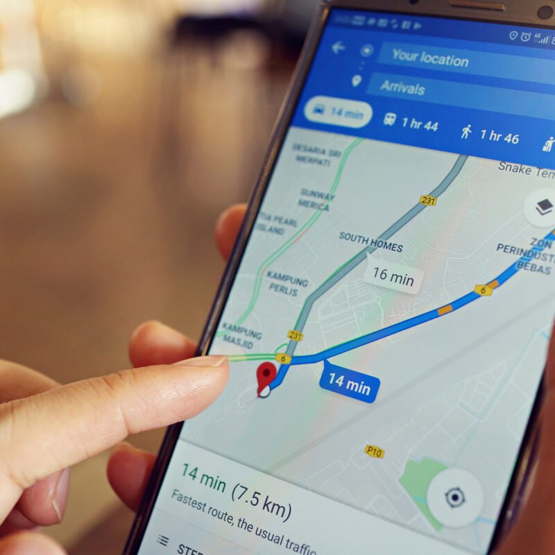 Using Google Maps app on Android.