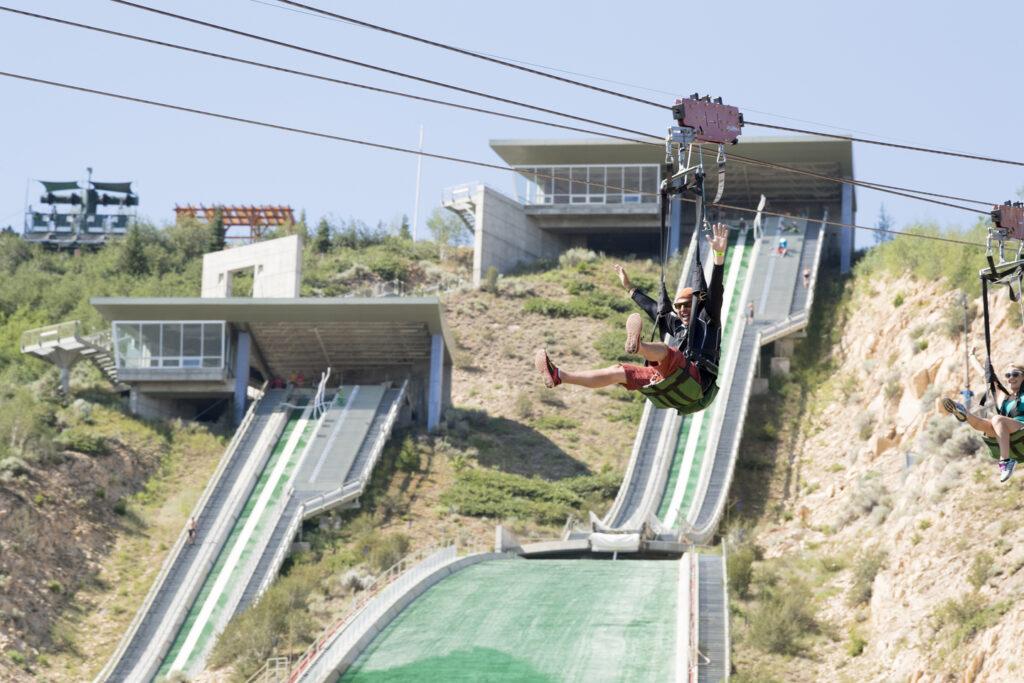 Utah Olympic Park activities in Park City.