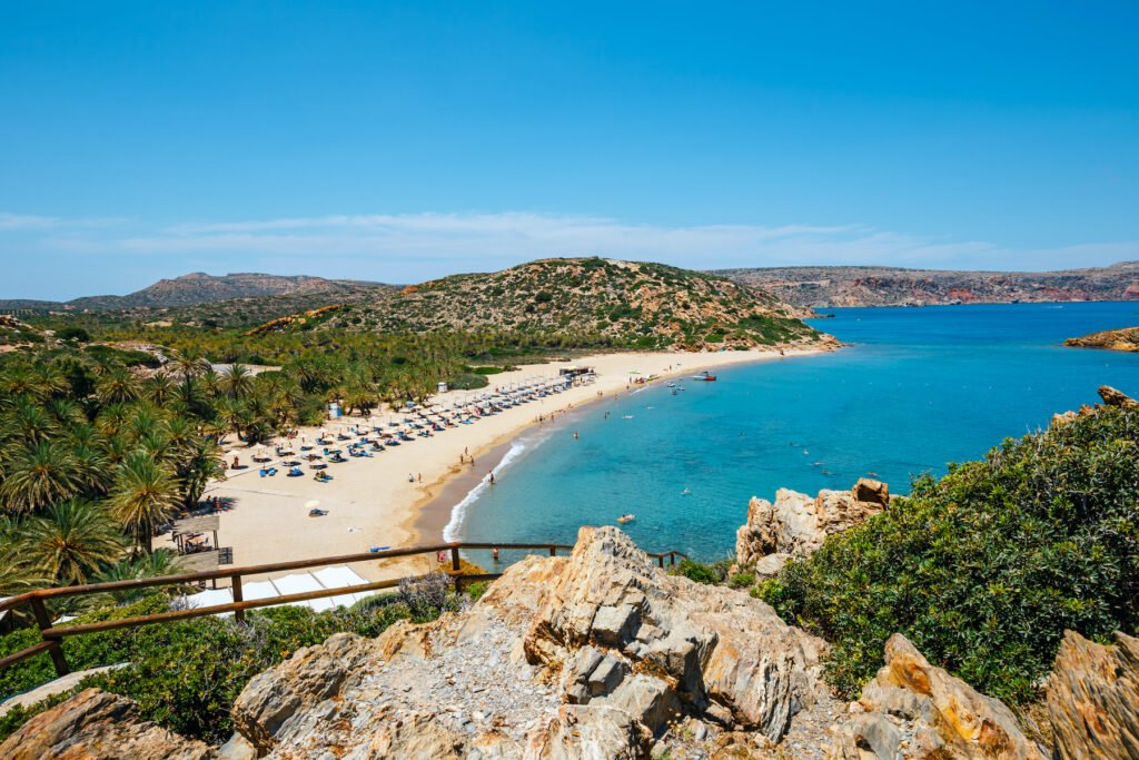 Vai Beach in Crete, Greece.