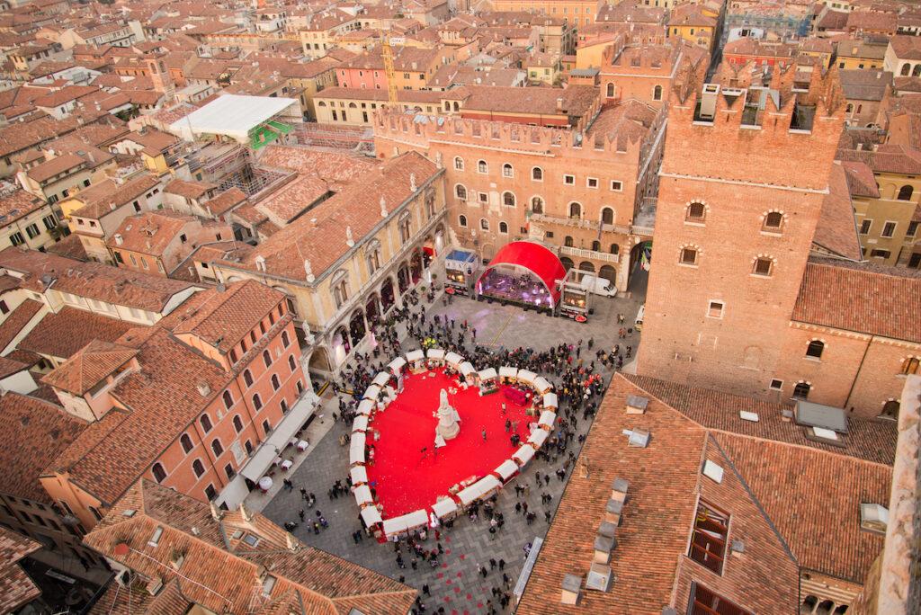 Valentine's Day celebrations in Verona, Italy.