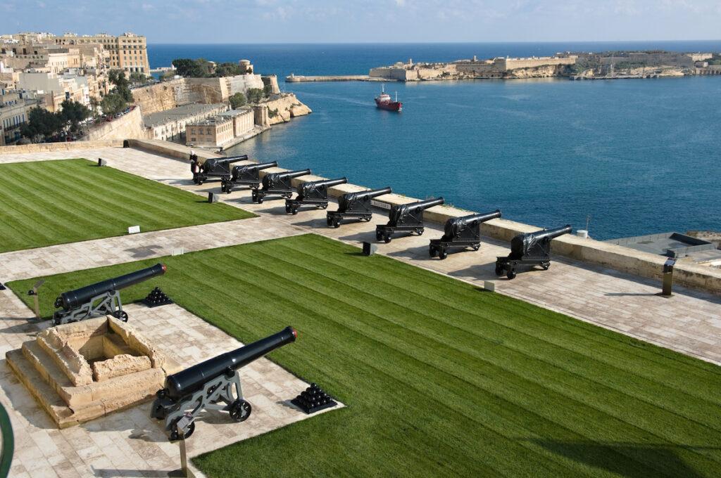Valletta's Upper Barrakka in Malta.