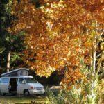 Van travel in autumn.