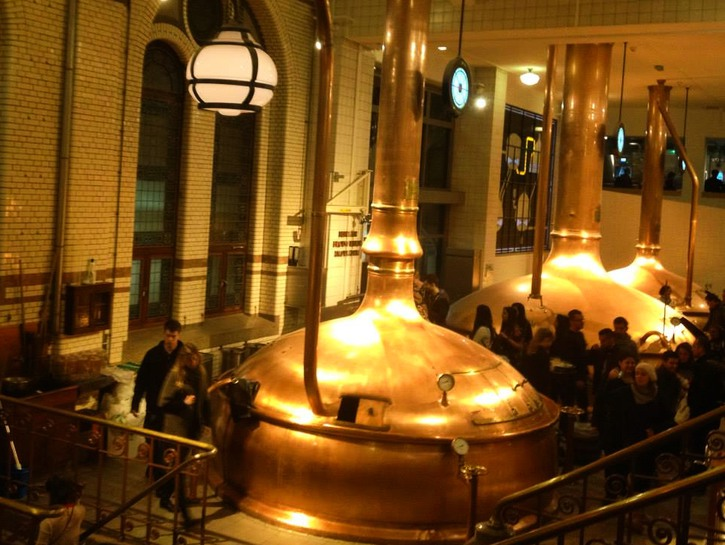 Vats in the original Heineken brewery in Amsterdam