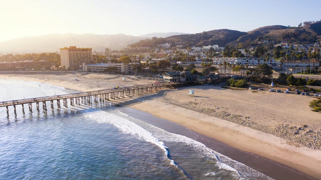 Ventura, California, pier and coastline.