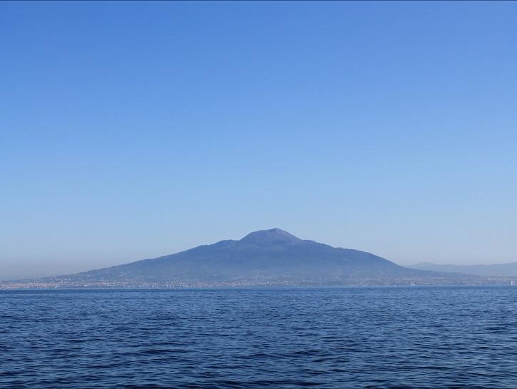 Vesuvius seen across the Bay of Naples
